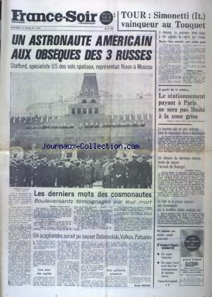 FRANCE SOIR SPECIAL TOUR DE FRANCE no: 03/07/1971