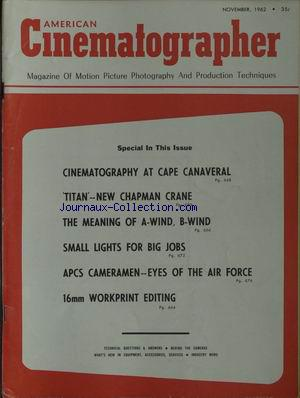 AMERICAN CINEMATOGRAPHER no: 01/11/1962