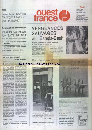 OUEST FRANCE BREST no: 21/12/1971