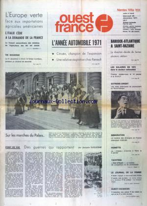OUEST FRANCE NANTES VILLE no: 29/12/1971
