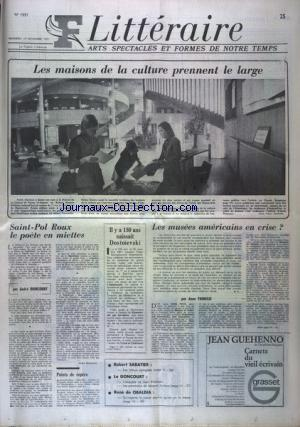 FIGARO LITTERAIRE no:1331 19/11/1971