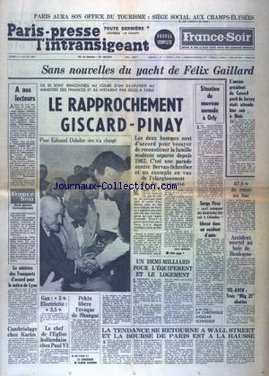 PARIS PRESSE L'INTRANSIGEANT BOURSE COMPLETE no: 11/07/1970