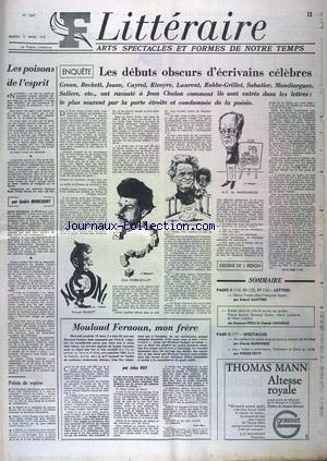 FIGARO LITTERAIRE no:1347 11/03/1972