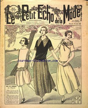 PETIT ECHO DE LA MODE (LA) no:16 22/04/1923