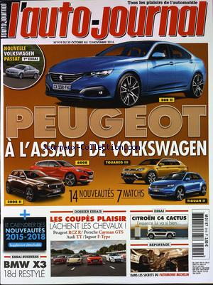 AUTO JOURNAL (L') no:919 30/10/2014