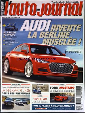 AUTO JOURNAL (L') no:918 16/10/2014