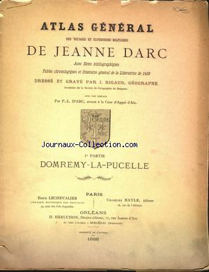 ATLAS GENERAL DES VOYAGES ET EXPEDITIONS MILITAIRES DE JEANNE DARC no: