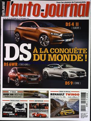 AUTO JOURNAL  (L') no:921 27/11/2014