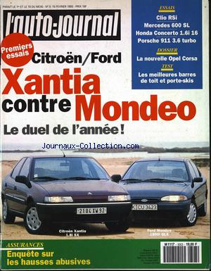 auto journal l no 3 15 02 1993 mus e de la presse. Black Bedroom Furniture Sets. Home Design Ideas