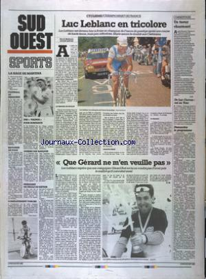 SUD OUEST SPORTS no: 29/06/1992