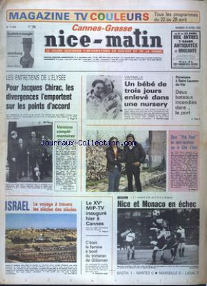 NICE MATIN CANNES GRASSE no:11423 21/04/1979