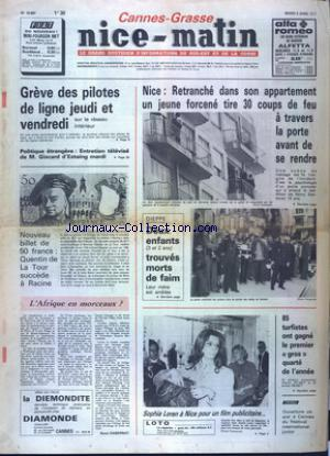 NICE MATIN CANNES GRASSE no:10687 05/04/1977