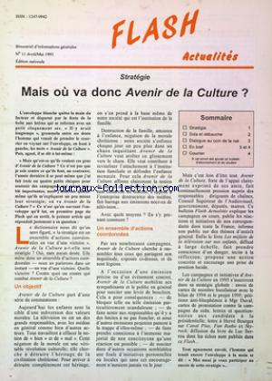 FLASH ACTUALITES no:11 01/04/1995