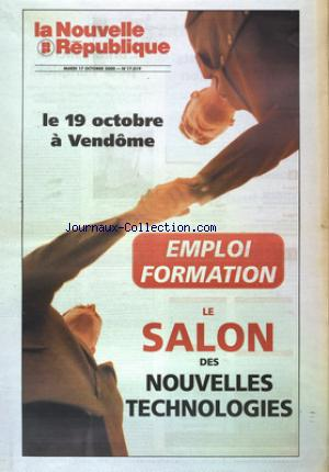 NOUVELLE REPUBLIQUE (LA) no:17019 17/10/2000