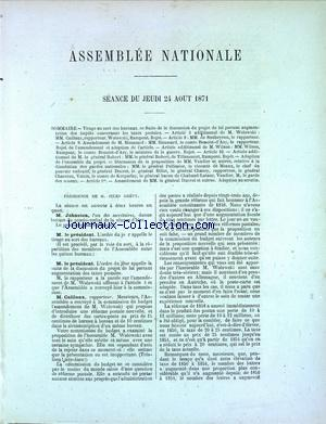 ASSEMBLEE NATIONALE no: 24/08/1871