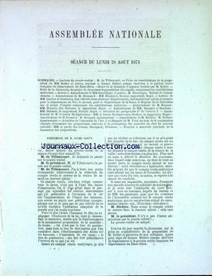 ASSEMBLEE NATIONALE no: 28/08/1871