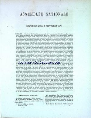 ASSEMBLEE NATIONALE no: 05/09/1871