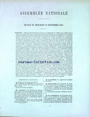 ASSEMBLEE NATIONALE no: 13/09/1871