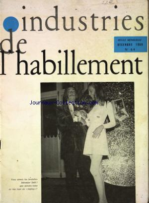 INDUSTRIES DE L'HABILLEMENT no:64 01/12/1969