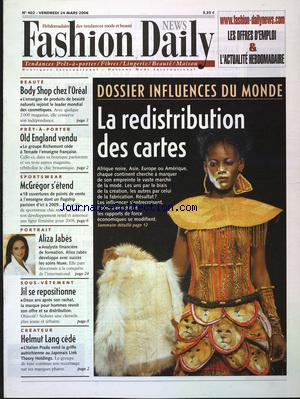 FASHION DAILY NEWS no:402 24/03/2006