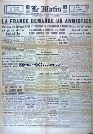 MATIN EDITION DE PARIS (LE) no:20536 19/06/1940