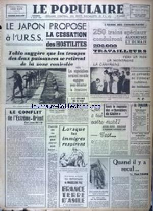 POPULAIRE DE PARIS (LE) no:2650 05/08/1938