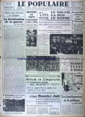 POPULAIRE DE PARIS (LE) no:2652 07/08/1938