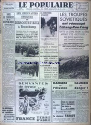 POPULAIRE DE PARIS (LE) no:2653 08/08/1938