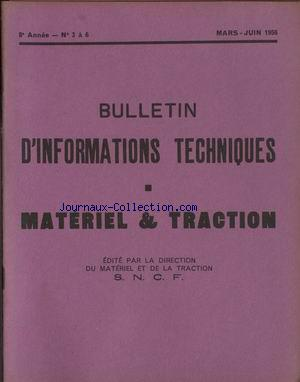 INFORMATIONS TECHNIQUES S.N.C.F. no:3 01/03/1956