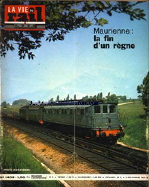 VIE DU RAIL (LA) no:1406 02/09/1973