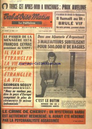 VAL D'OISE MATIN no:9334 05/09/1974