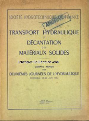 SOCIETE HYDROTECHNIQUE DE FRANCE no: 25/06/1952