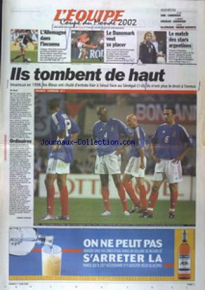 EQUIPE SPECIAL COUPE D'EUROPE (L') no:17516 01/06/2002
