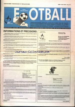 FOOTBALL NORD PAS DE CALAIS no:305 09/12/1996