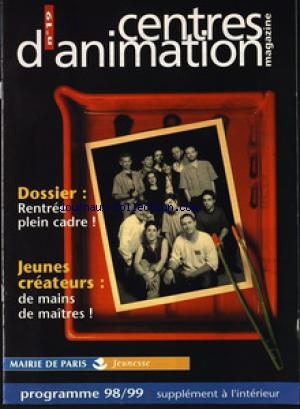 CENTRE D'ANIMATION MAGAZINE no:19 01/01/1998
