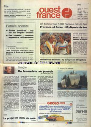 OUEST FRANCE ORNE no:13634 29/08/1989