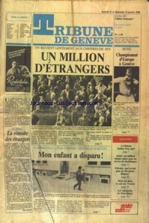 TRIBUNE DE GENEVE no: 23/01/1988