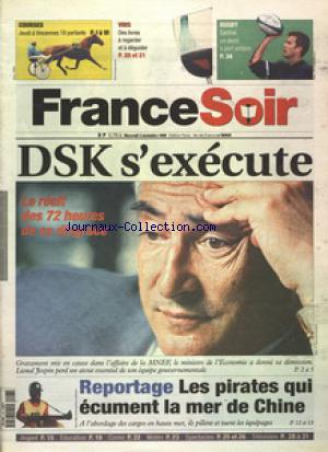 FRANCE SOIR EDITION PARIS ILE DE FRANCE  no: 03/11/1999