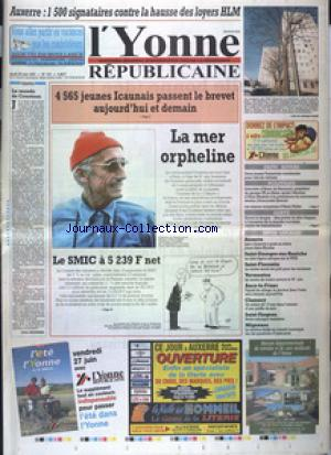 YONNE REPUBLICAINE EDITION SUD (L') no:147 26/06/1997