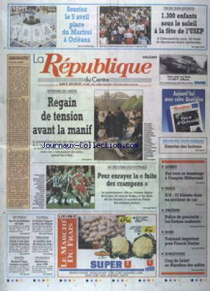 REPUBLIQUE DU CENTRE (LA) no:15287 03/04/1997