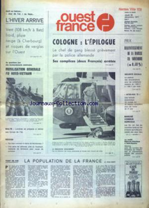 OUEST FRANCE NANTES VILLE no: 30/12/1971