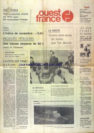 OUEST FRANCE BREST no: 28/12/1973