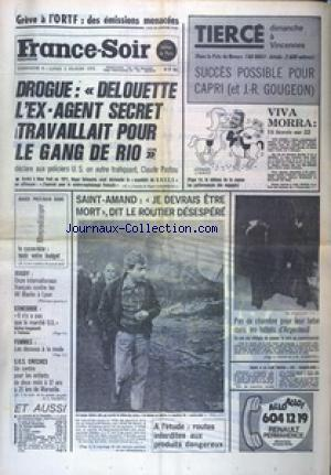 FRANCE SOIR EDITION COMPLETE COURSES BOURSE no: 29/12/1973