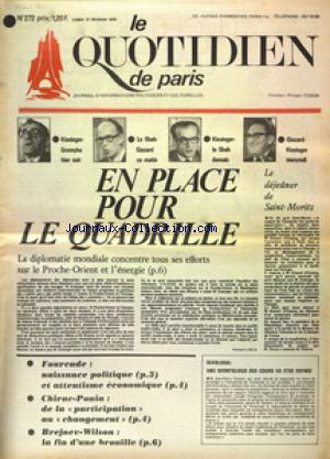 QUOTIDIEN DE PARIS (LE) no:272 17/02/1975