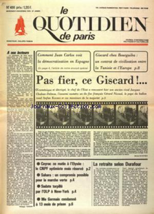 QUOTIDIEN DE PARIS (LE) no:486 05/11/1975