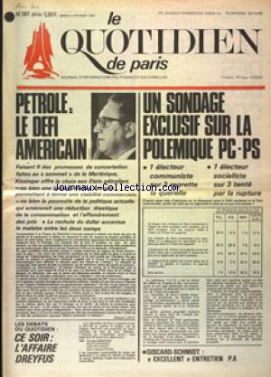 QUOTIDIEN DE PARIS (LE) no:261 04/02/1975