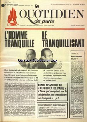 QUOTIDIEN DE PARIS (LE) no:270 24/02/1975