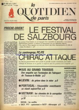 QUOTIDIEN DE PARIS (LE) no:358 02/06/1975