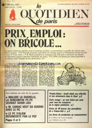 QUOTIDIEN DE PARIS (LE) no:359 03/06/1975