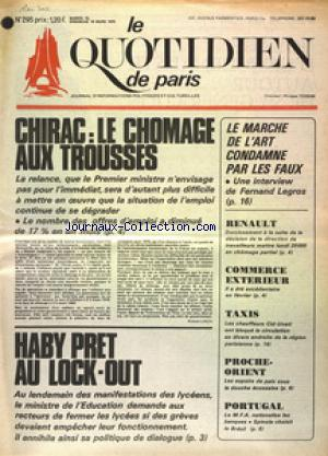 QUOTIDIEN DE PARIS (LE) no:295 15/03/1975